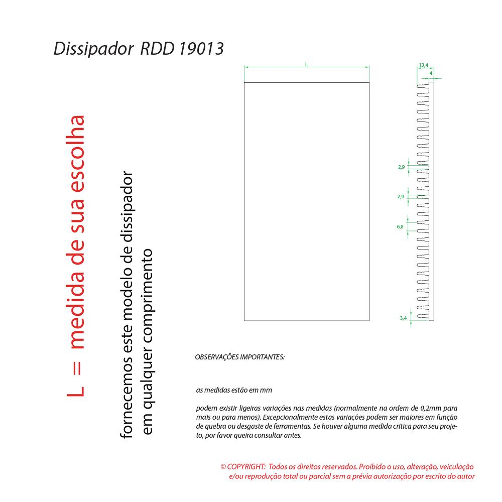 Dissipador Luminaria RDD19013