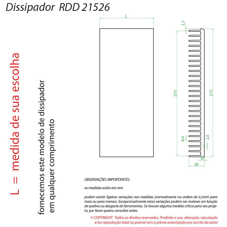 Dissipador Luminaria RDD21526