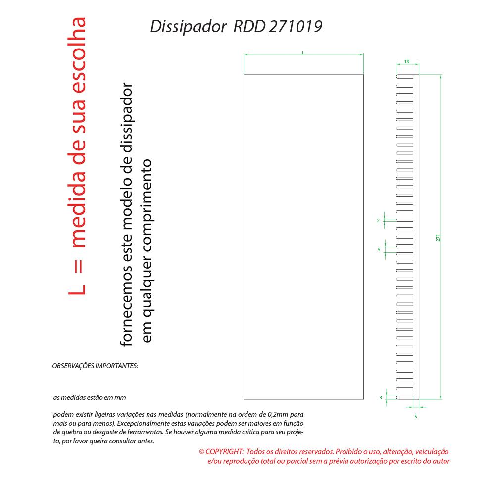 Dissipador Luminaria RDD271019