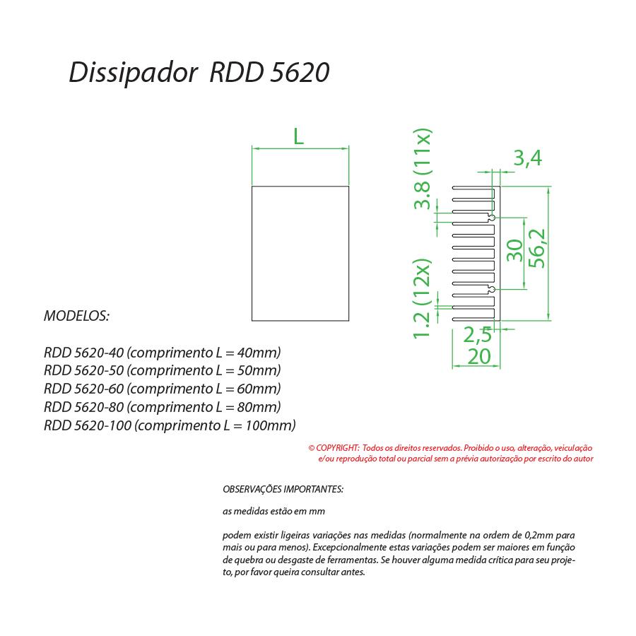 Dissipador de calor RDD 5620-700