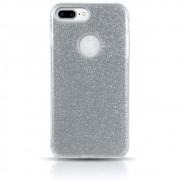 Capa iPhone 7 Plus - Glitter Prata Premium