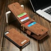 Capa iPhone Se / 5s / 5 - Caseme - Carteira Couro Multifuncional 2 em 1