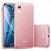 Capa iPhone Xs Max - Glitter Rosa Dupla Proteção