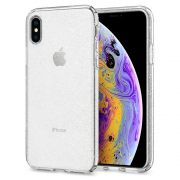 Capa iPhone Xs / X - Liquid Crystal Glitter Transparente - Spigen
