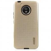 Capa Moto G5 - Anti Impacto Queda Shock - Dourada