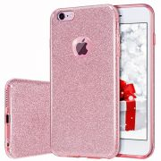 Capinha iPhone 6s / 6 Glitter Dupla Proteção Rosa