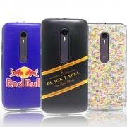Kit 3 Capas Moto G3 - Personalizada Red Bull / Black Label / Emoji