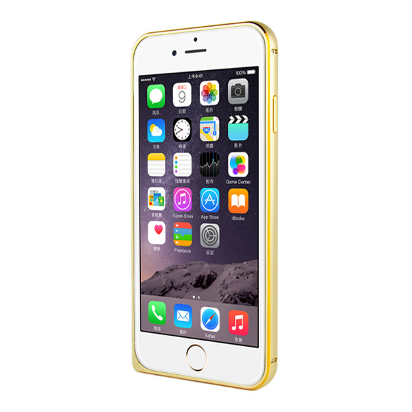 Capa Bumper iPhone 6s / 6 - Alumínio Dourado