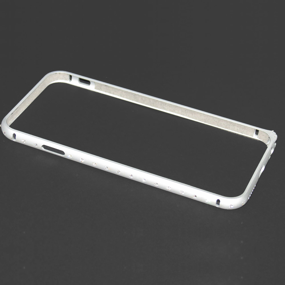 Capa Bumper iPhone 6s / 6 - Alumínio Strass