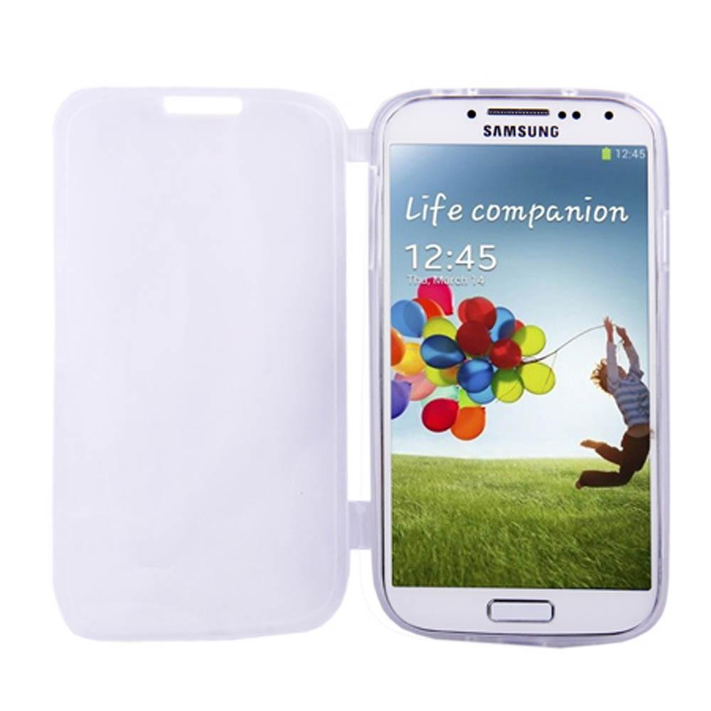 Capa Galaxy S4 - Branca Flexível Antiderrapante - Com Visor