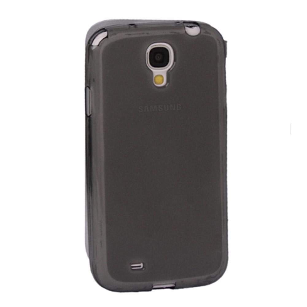 Capa Samsung Galaxy S4 - Fumê Flexível Antiderrapante - Com Visor