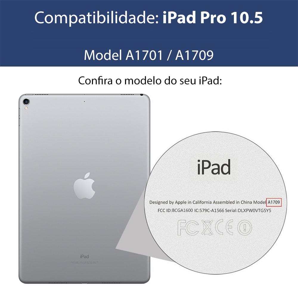 Capa iPad Pro 10.5 (2017) - Couro com Teclado Magnético Destacável