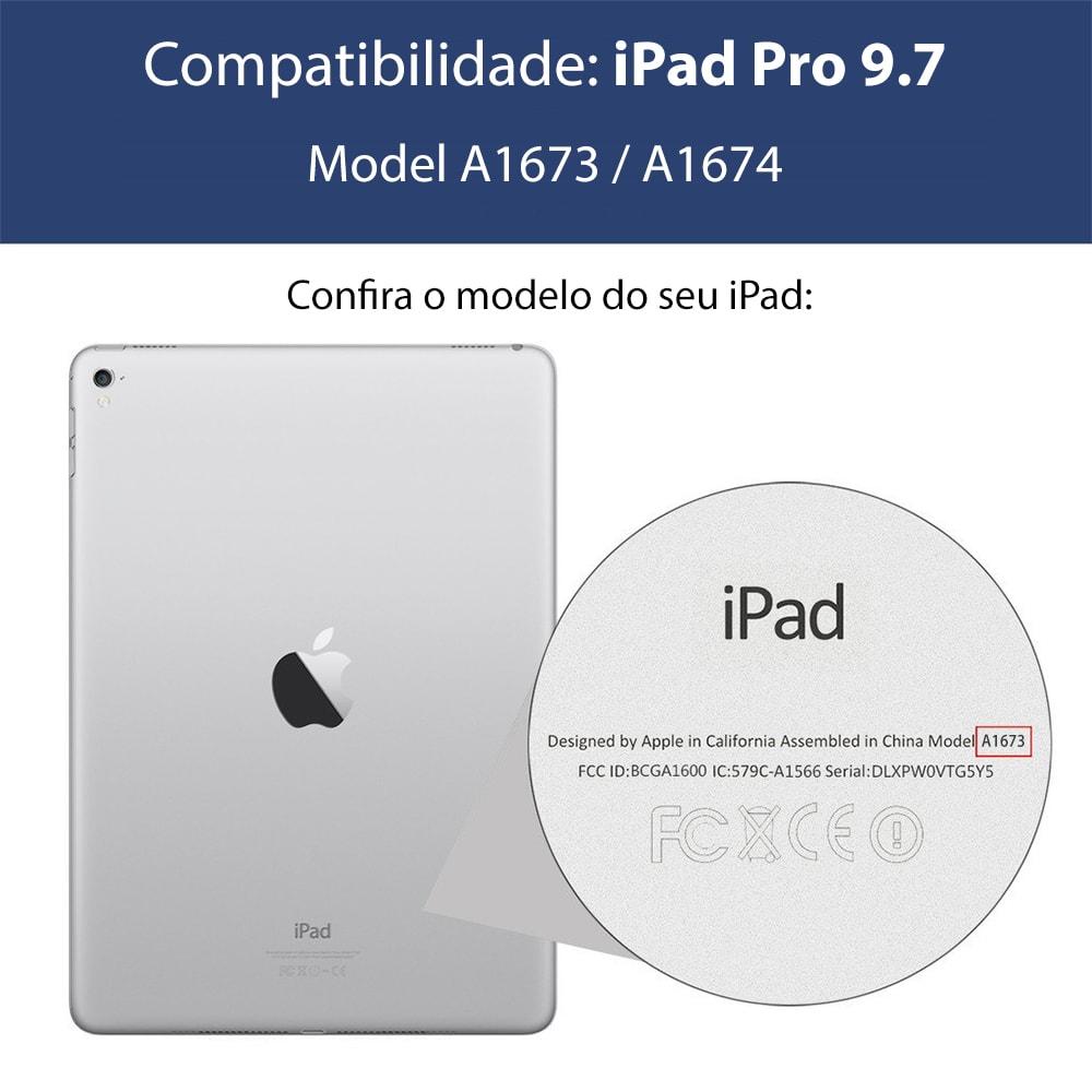 Capa iPad Pro 9.7 - Smart Cover + Capa Traseira - Azul
