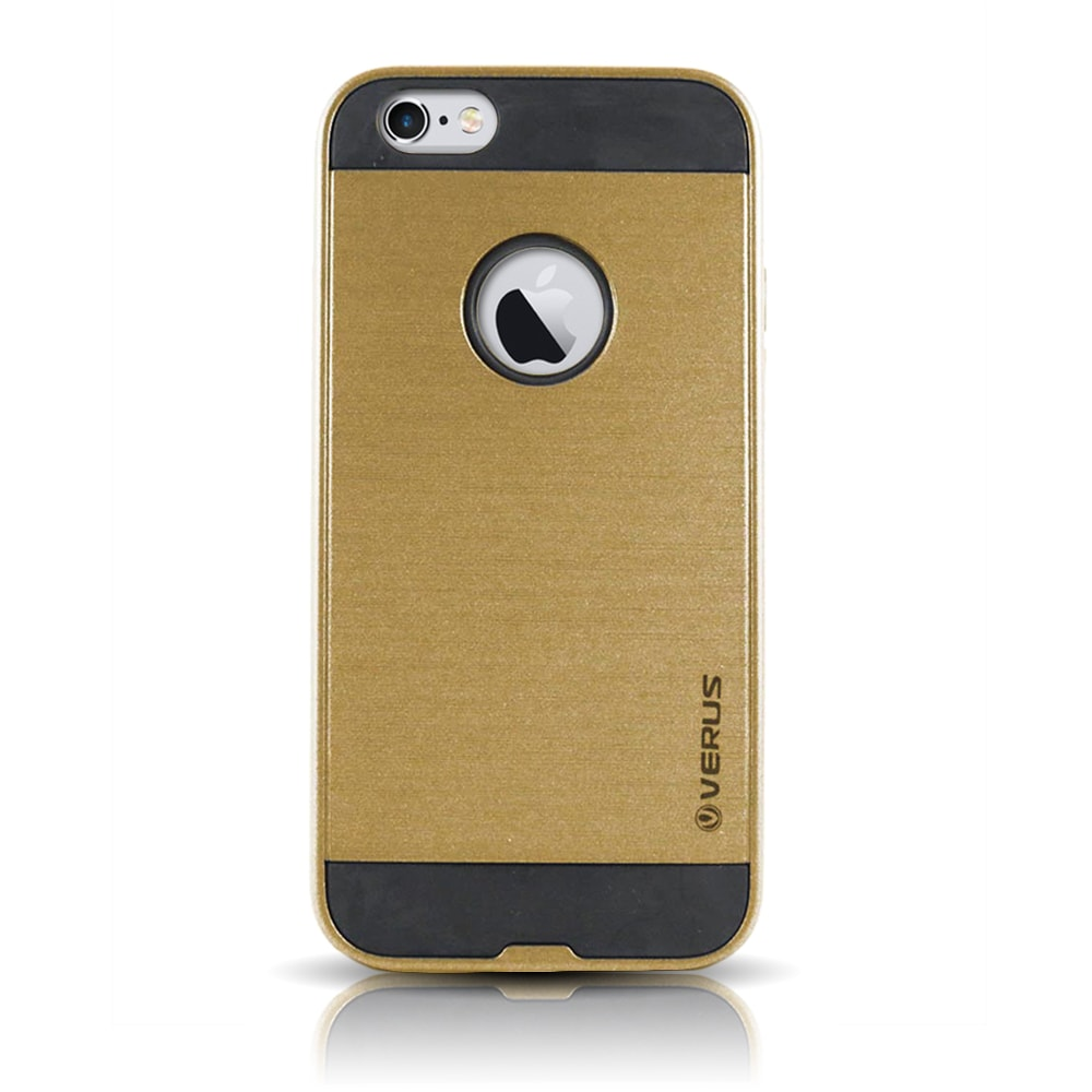 Capa iPhone 6s / 6 Anti Impacto Escovada - Dourada