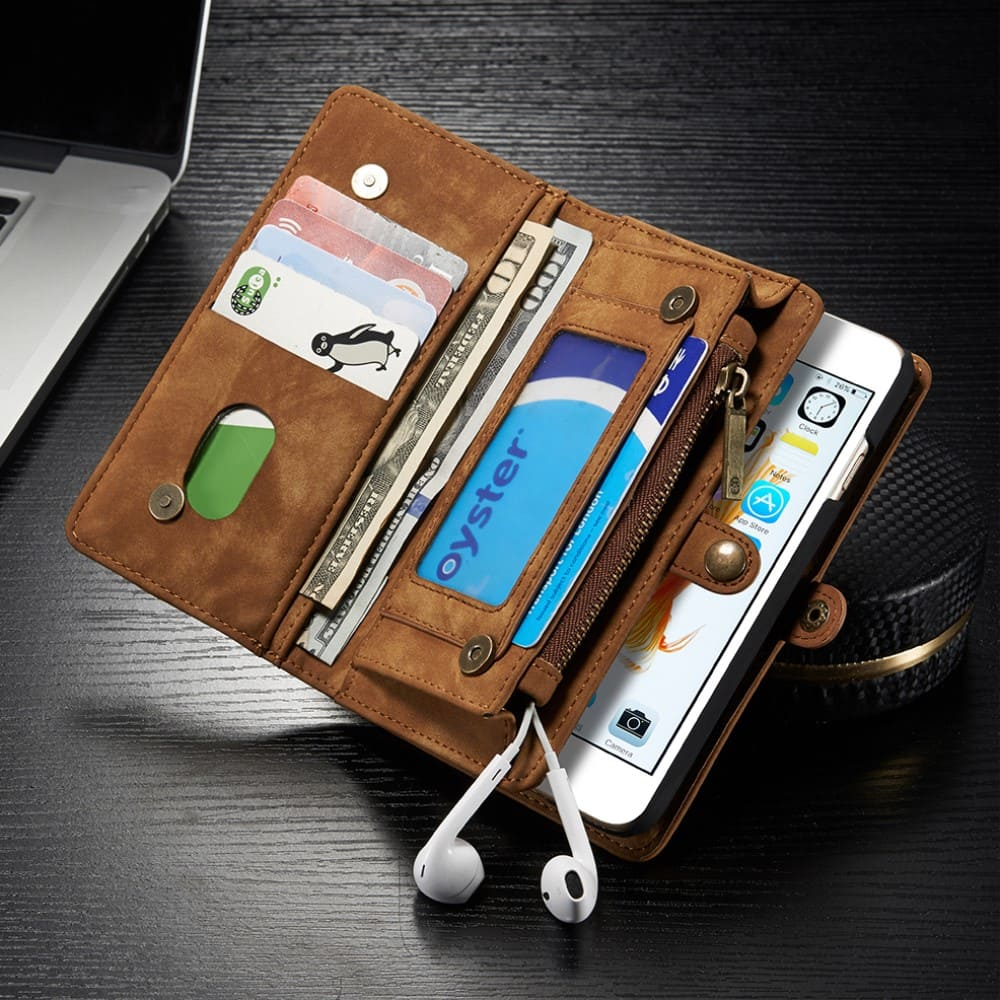 Capa iPhone 6s / 6 - Caseme - Carteira Couro Multifuncional 2 em 1