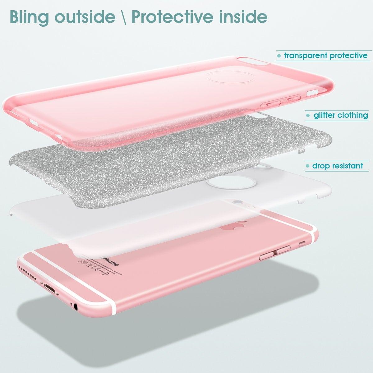 Capa iPhone 6s / 6 - Glitter Dupla Proteção Brilhante