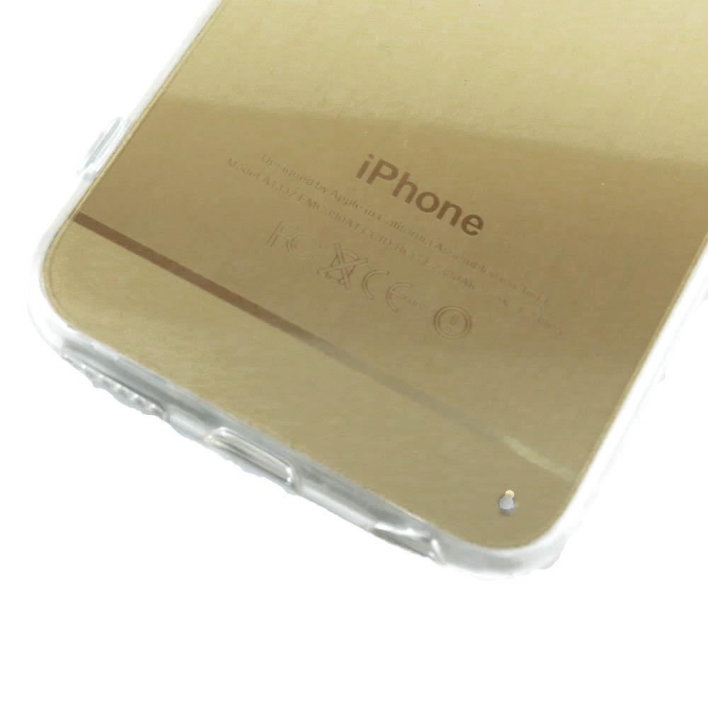Capa iPhone 6S / 6 - Logo Apple Escovado - Dourada