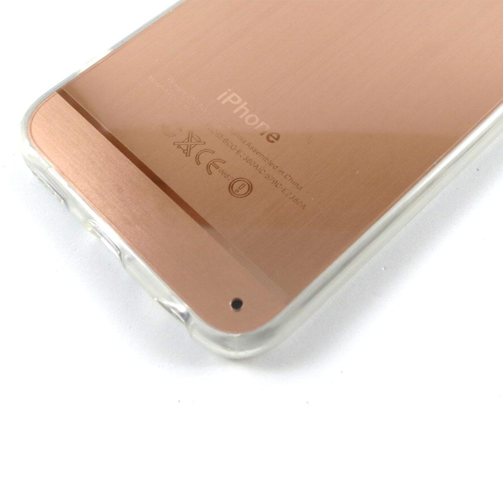 Capa iPhone 6S / 6 - Logo Apple Escovado - Ouro Rosa