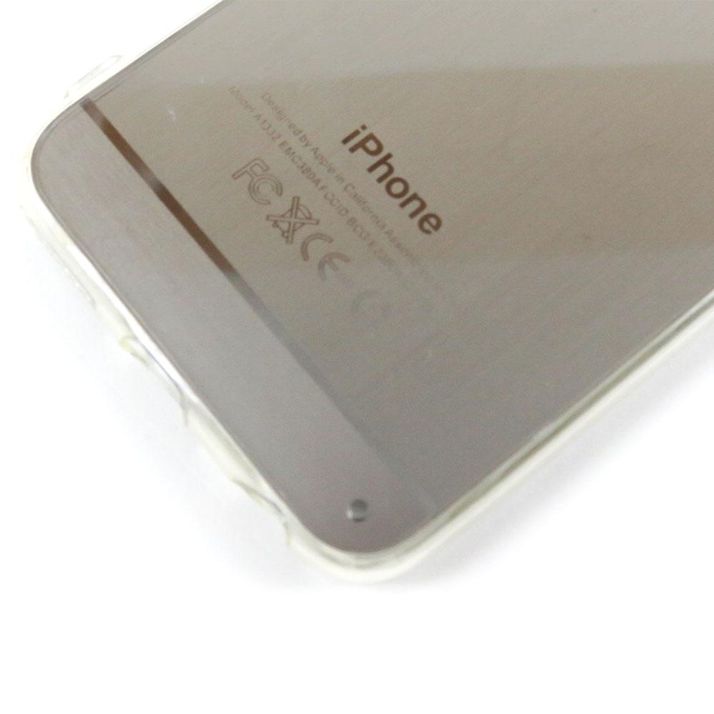 Capa iPhone 6S / 6 - Logo Apple Escovado - Prata
