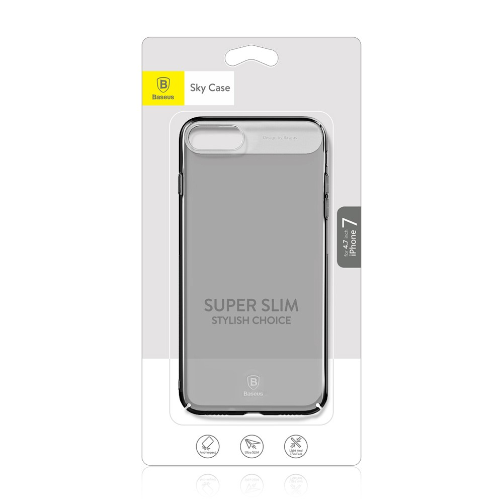Capa iPhone 8 / 7 - Baseus - Super Slim Acrílica Original - Preta