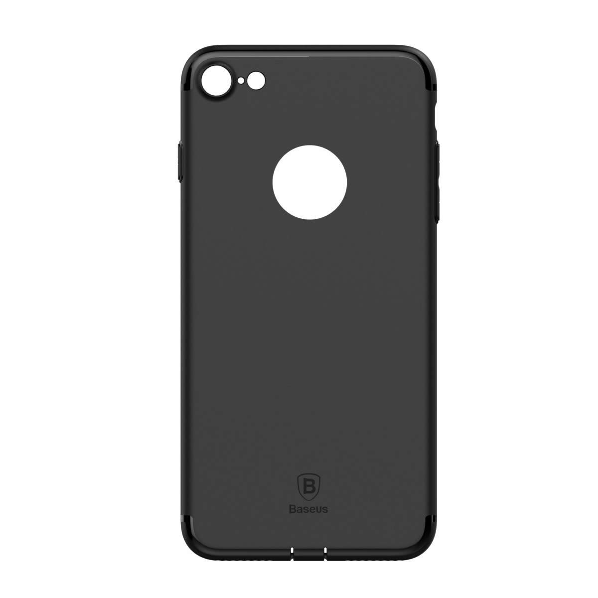 Capa iPhone 7 Baseus Ultra Fina Simple Series - Preta Sólida