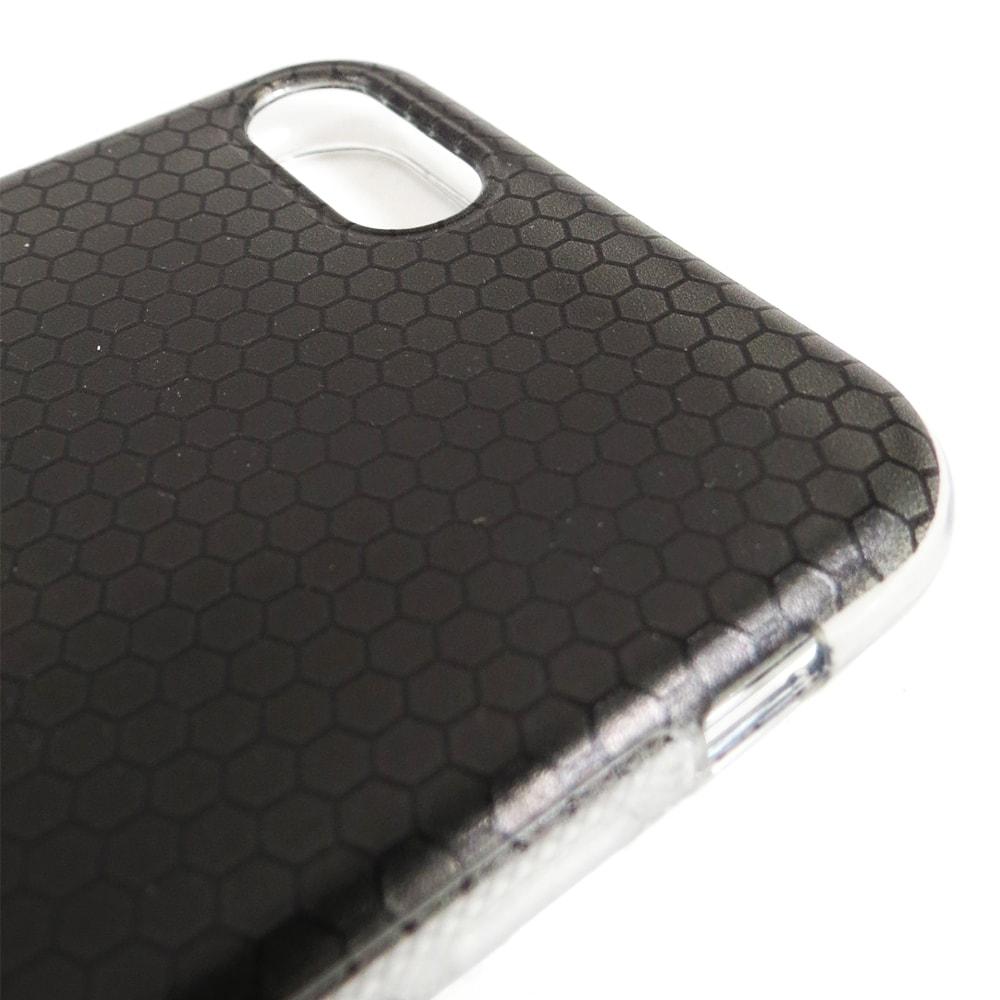 Capa iPhone 7 - Giffy - Black Metal - Silicone Flexível