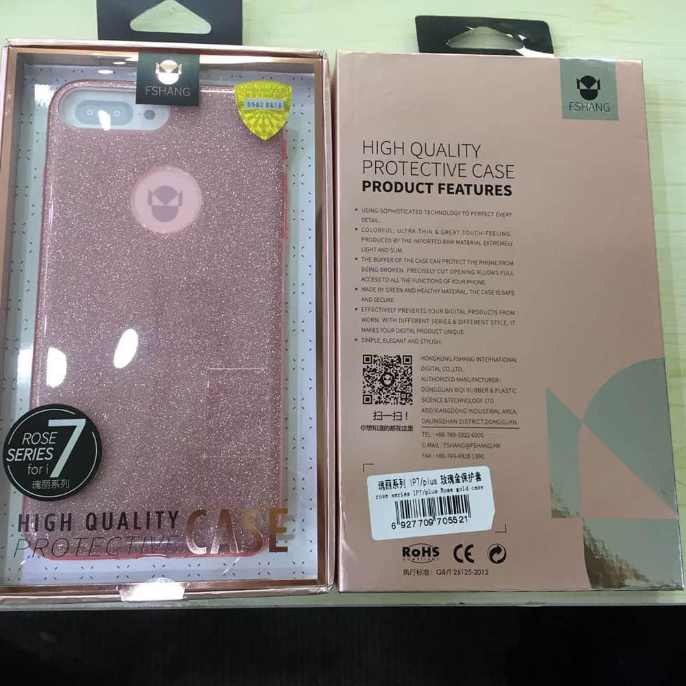 Capa iPhone 7 Plus - Fshang - Glitter Series - Original - Rosa