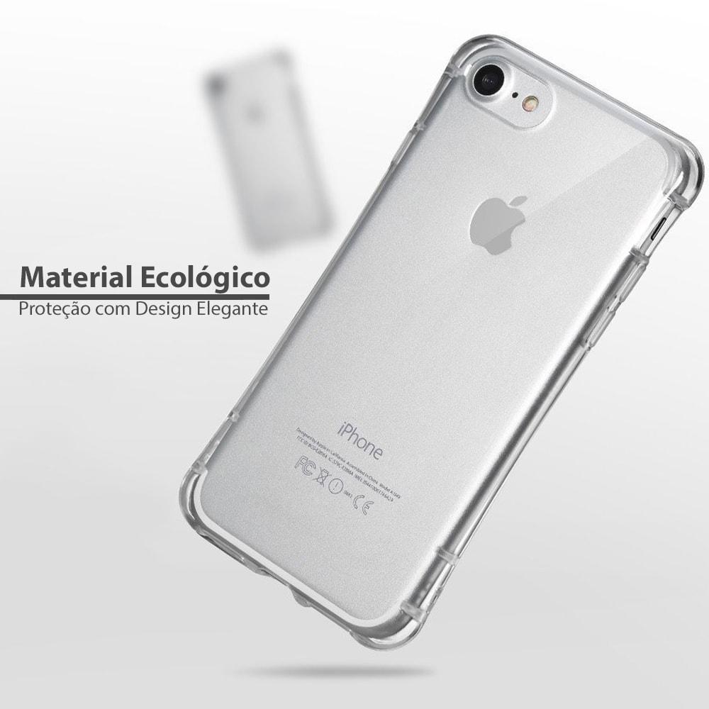 Capa iPhone 8 / 7 - FShang - Transparente - Guardian Series
