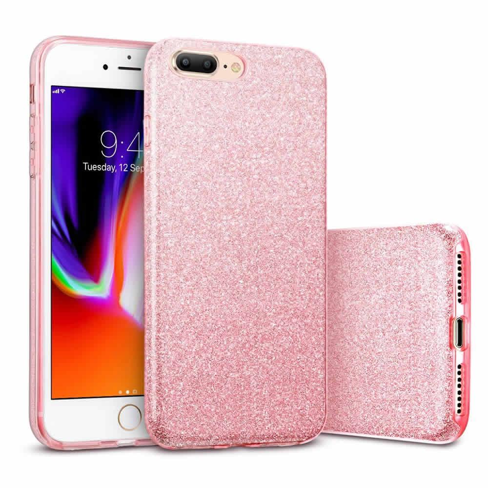 Capa iPhone 8 Plus / 7 Plus - Glitter com 3 Camadas de Proteção