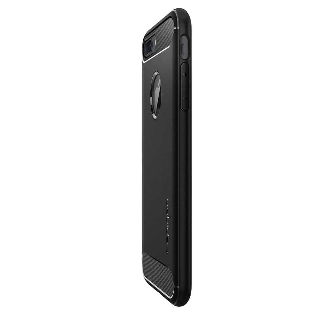 Capa iPhone 8 Plus / 7 Plus - Rugged Armor Preta - Spigen