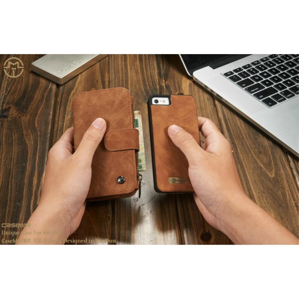 Capa iPhone Se 5s 5 - Caseme - Carteira Couro Multifuncional 2 em 1
