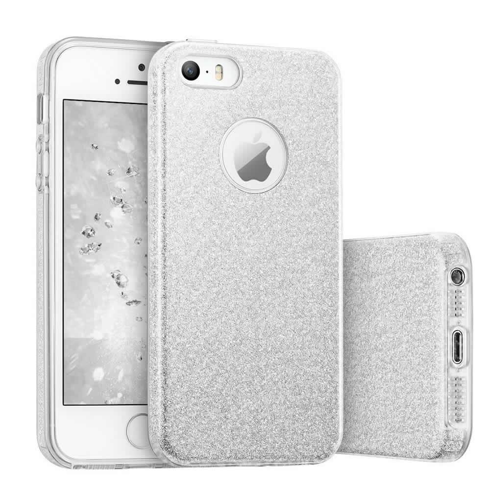 Capa iPhone Se / 5s / 5 Glitter com 3 Camadas de Proteção
