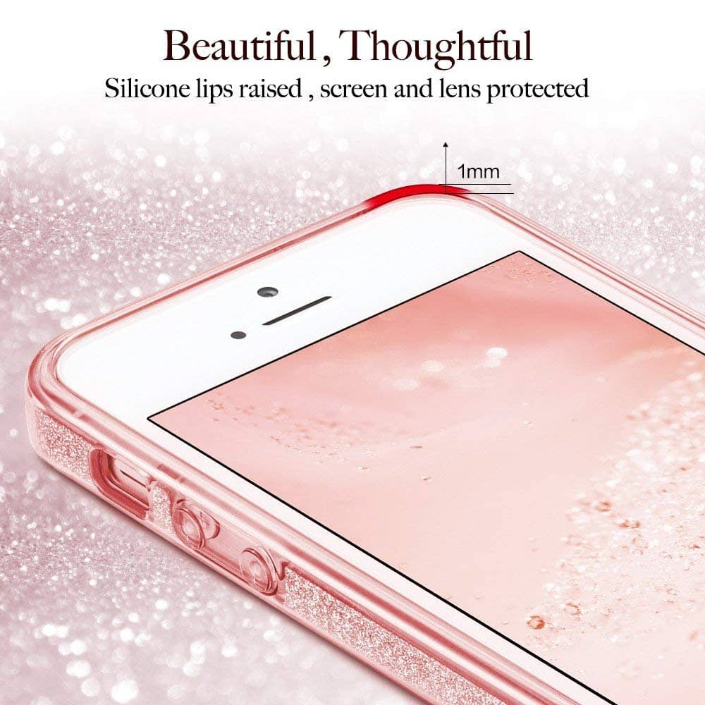 Capa iPhone Se / 5s / 5 - Glitter Dupla Proteção