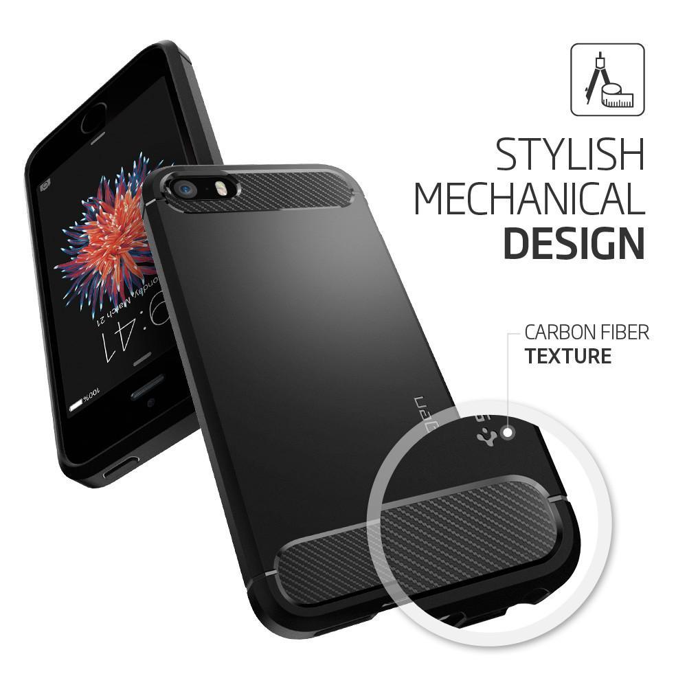 Capa iPhone SE / 5s / 5 - Spigen Rugged Armor Preta