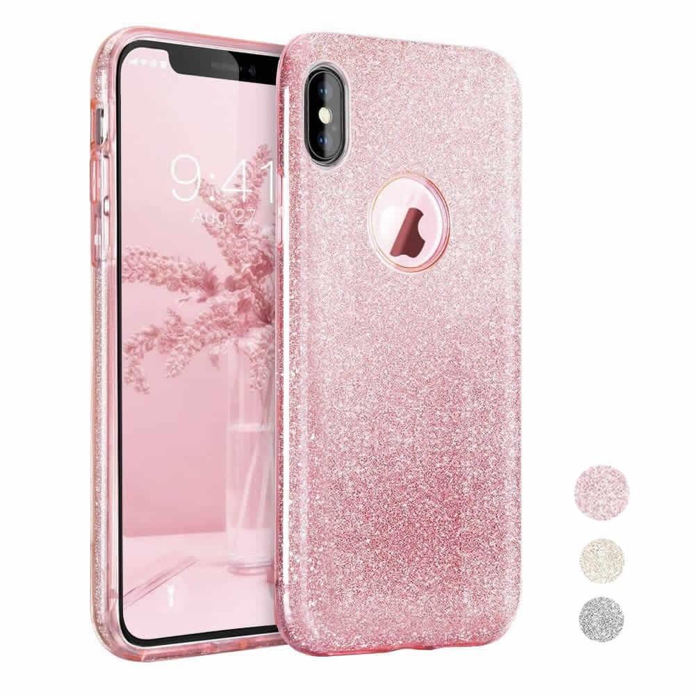 Capa iPhone X - Glitter - 3 em 1