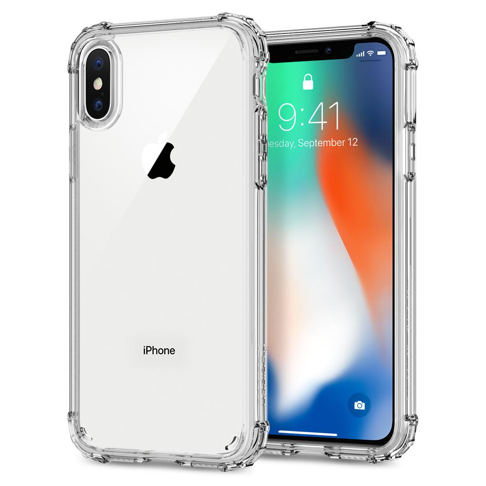 Capa iPhone Xs / X - Transparente Crystal Shell - Spigen