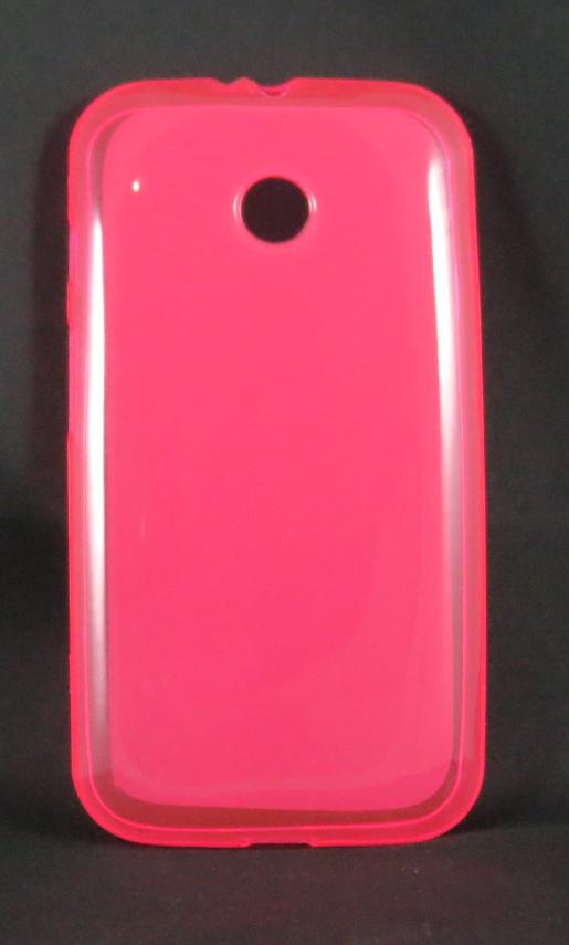 Capa Moto E - Rosa Flexível TPU