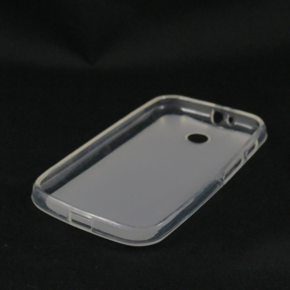 Capa Moto E - Transparente Fosca Flexível TPU