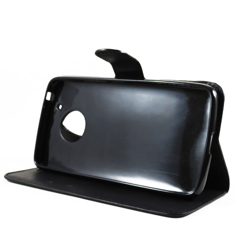 Capa Moto G5 - Carteira Flip - Preta