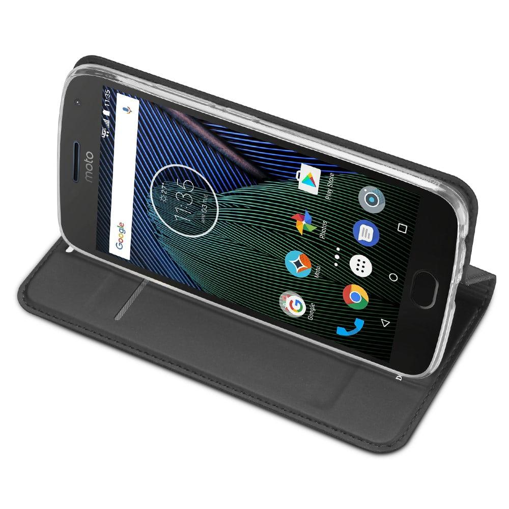 Capa Moto G5 - Dux Ducis - Carteira Couro Magnética