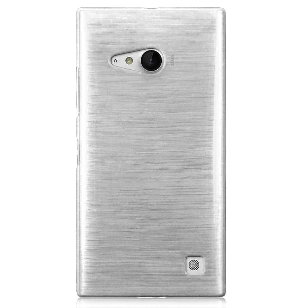 Capa Nokia Lumia 730 - Branca Escovada Flexível TPU