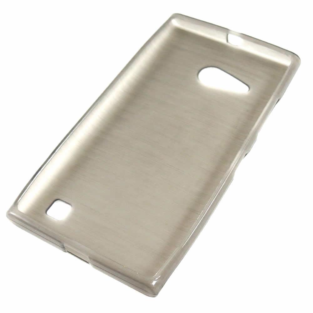 Capa Nokia Lumia 730 - Fumê Escovada Flexível TPU