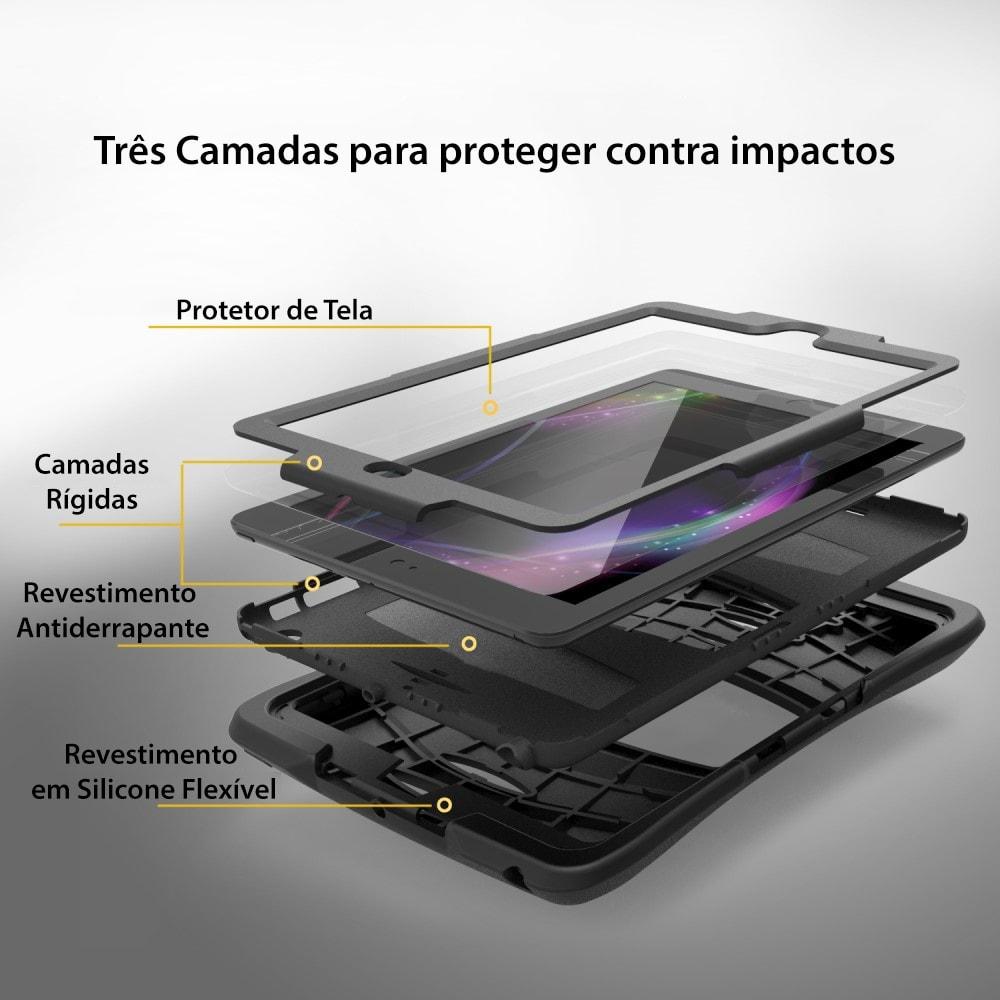 Capa Novo iPad 9.7 2017 - Anti Impacto com Apoio