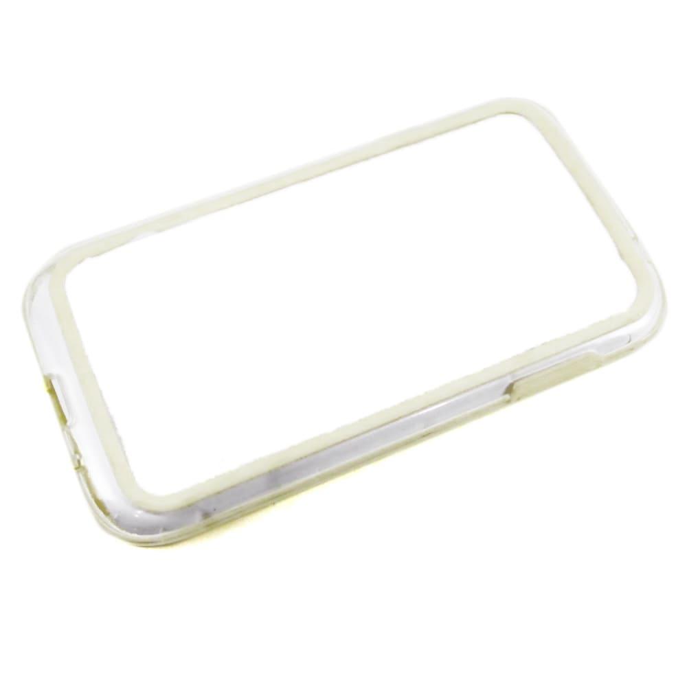 Capa Samsung Galaxy Gran Duos - Bumper Silicone - Branca Transparente
