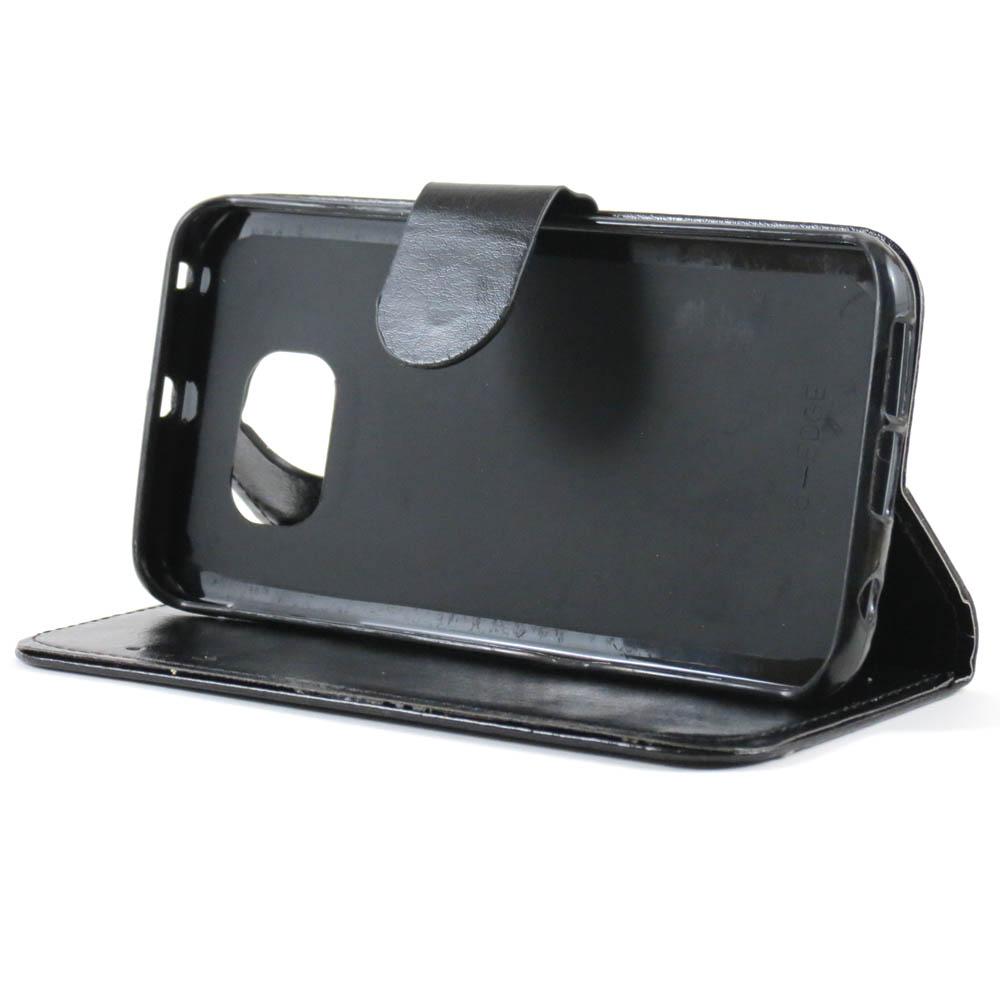 Capa Samsung Galaxy S6 Edge - Carteira Flip Preta