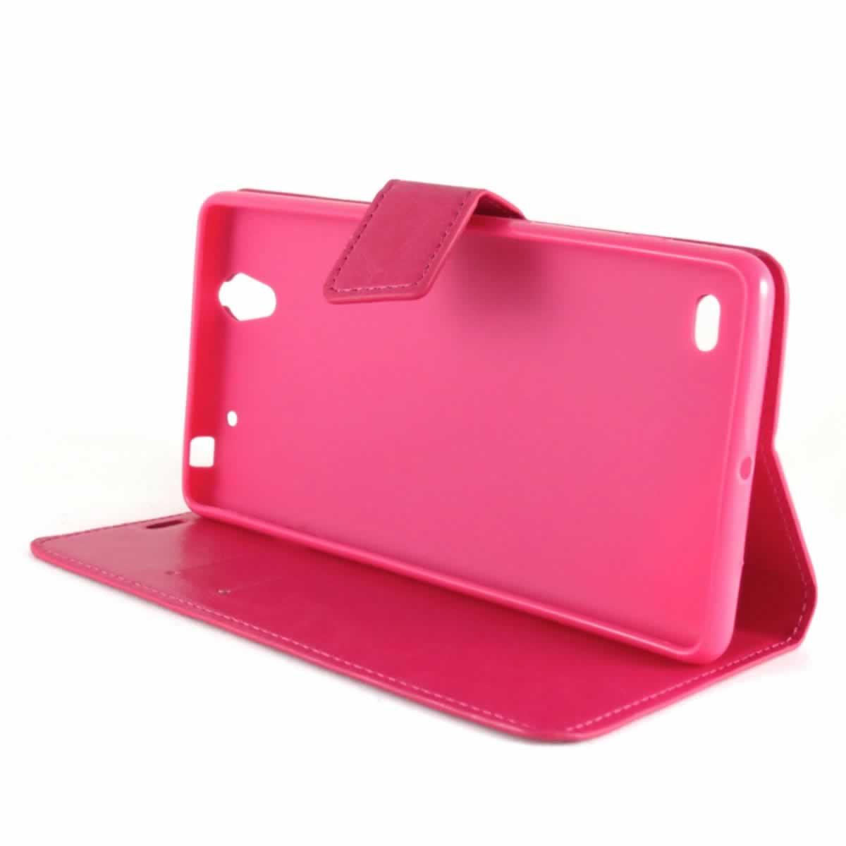 Capa Sony Xperia C4 Dual - Carteira Flip - Rosa