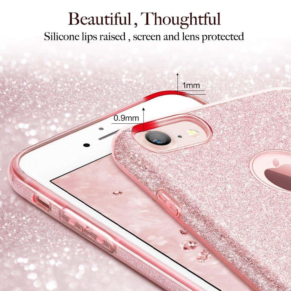 Capinha iPhone 8 / 7 - Glitter - Dupla Proteção