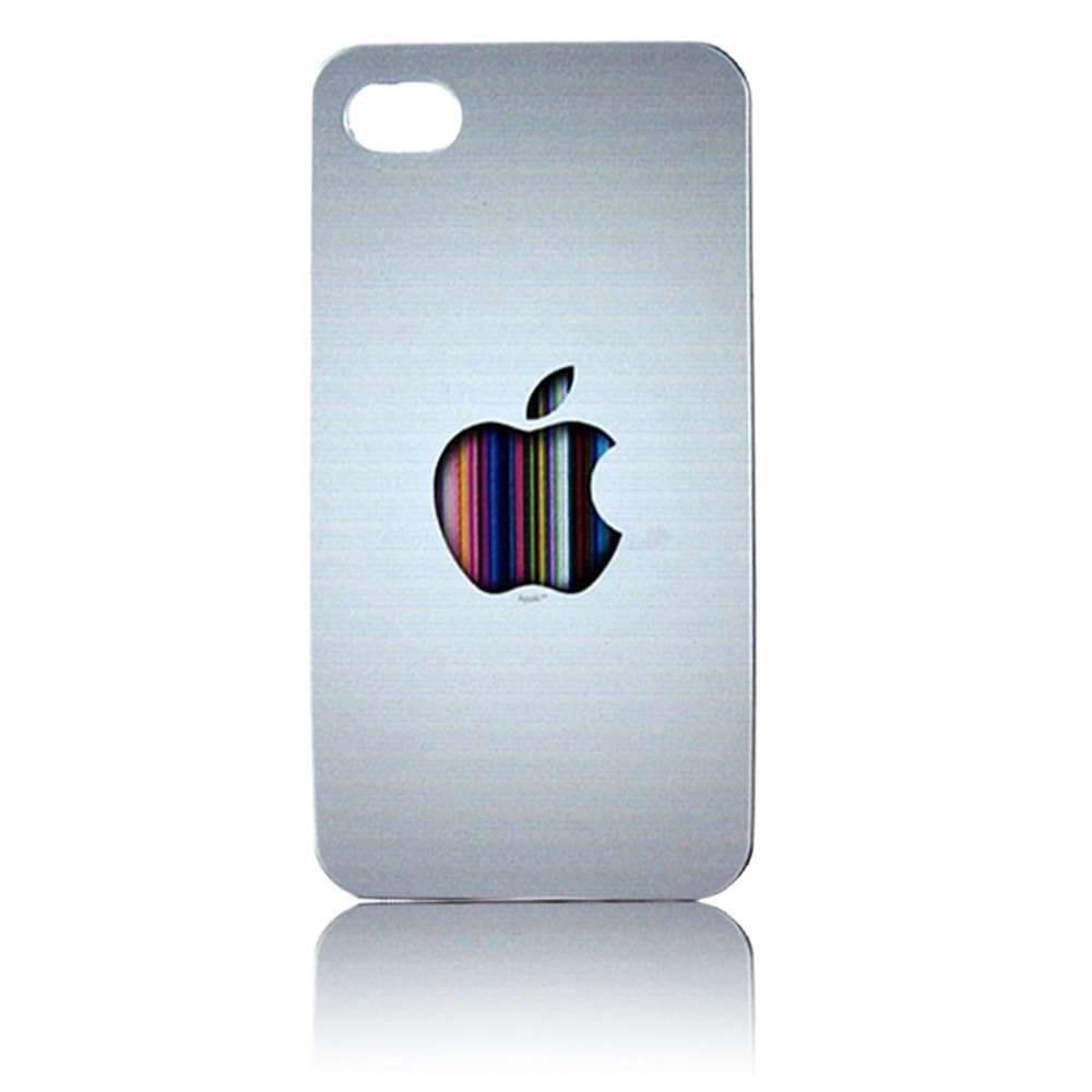 Kit 5 Capas iPhone 4 / 4s -  Apple Coloridas Acrílicas Personalizadas
