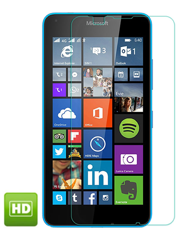 Película Transparente Brilhante - Microsoft Lumia 640