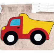 Tapete de Pelúcia Big Formato Caminhão Caçamba 1.32m x 86cm
